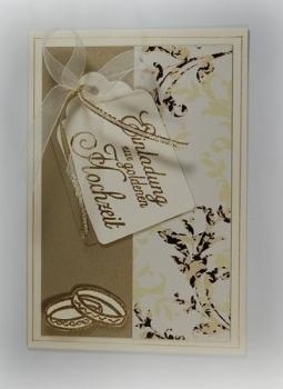 tischdeko24 hochwertige einladungskarten zur goldenen. Black Bedroom Furniture Sets. Home Design Ideas