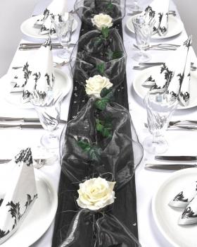 Tischdeko24 Fibula Style Komplettset Flair Black Grosse S Fur